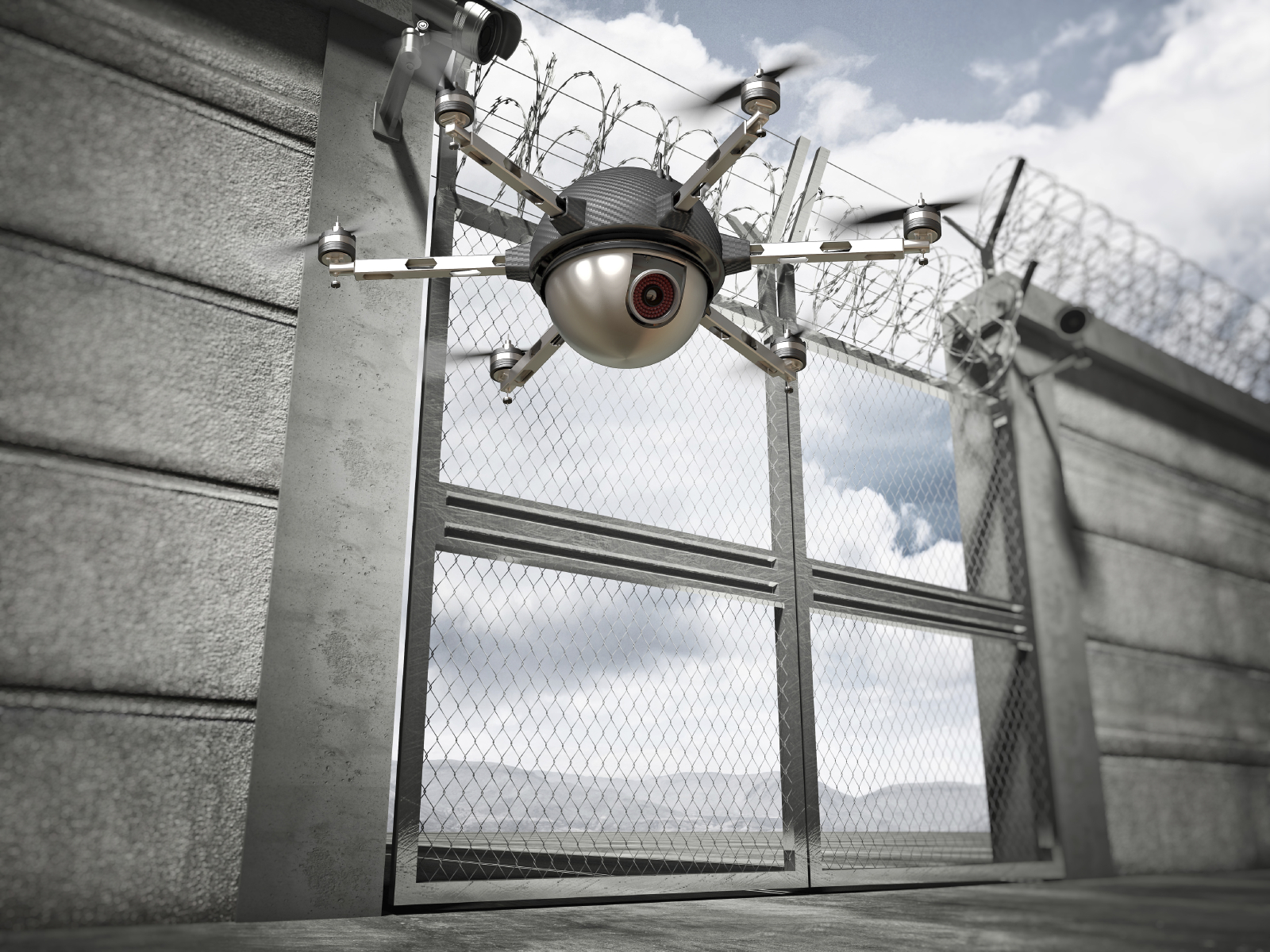 Drone in correctional facility