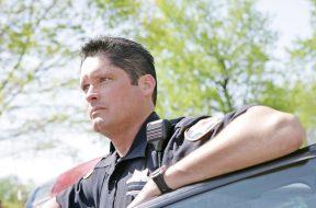 Sad Police Officer